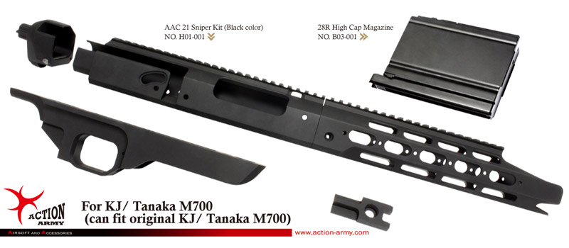 AAC21 ACTION ARMY B03-007 AAC01 M700 Perfomance Bolt-700 System
